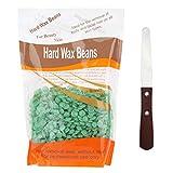 Kit d'épilation–Cire dure grains et spatule en acier inoxydable Thé vert