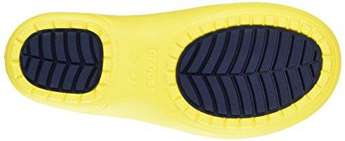 Crocs Crocs Freesail Shorty Rainboot Berry, Bottes en caoutchouc de hauteur moyenne, non doublées femme Vert (Lemon)