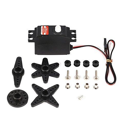 JX PS-2503HB 4,8 V-6 V Hochspannung 0,10 s / 60 3,35 kg Analog Plastic Gear Servo Metallgehäuse für 1/12 RC-Car -