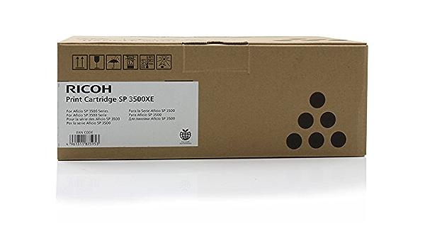 Original Ricoh 406990 Spc3500xe Toner Black Approx 6 400 Pages For Aficio Sp 3500 3510 Bürobedarf Schreibwaren