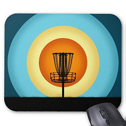 Fashion Disc Golf Basket Mouse Pad 7.08X8.66 inches/18X22 cm -