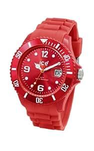 Ice Watch - SI.WR.U.S.09 - Montre Mixte - Quartz Analogique - Cadran Rouge - Bracelet Silicone - Moyen Modèle