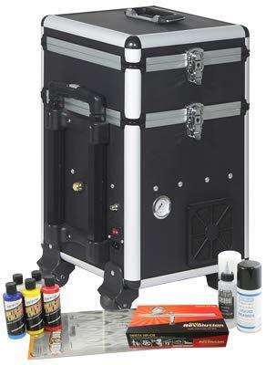 Iwata Custom Graphics Airbrush-Kit mit Maxx Jet Kompressor/Aufbewahrungseinheit -