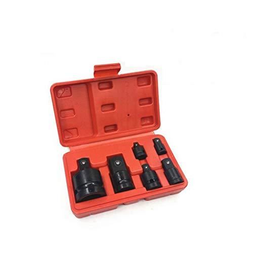 Lorsoul 6PCS 1/2 3/4 3/8 1/4 Ratsche Buchse Adapter Schlüssel-Satz-Konverter-Laufwerk Reducer Air Wrench Set