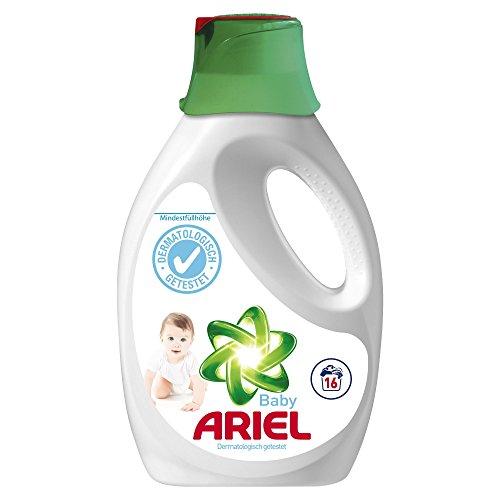 Ariel Vollwaschmittel flüssig Baby inkl. Vorbehandlungskappe, 4er Pack (4 x 16 Waschladungen)