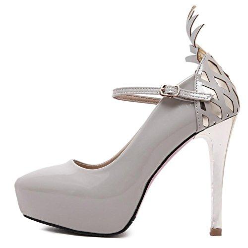 Sexy Stiletto Plattform Patent Leder elegante Light Damen Schuhe 50 gold Patent Open Toe Plattform