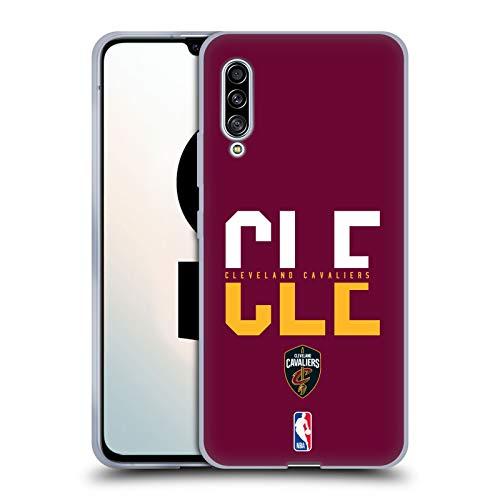 Head Case Designs Offizielle NBA Typographie 2019/20 Cleveland Cavaliers Soft Gel Huelle kompatibel mit Samsung Galaxy A90 5G (2019) -