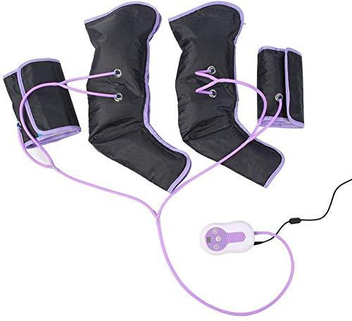 BD.Y Gute Qualität Beinluftkompressionsmassagegerät für Fuß Elektrozirkulation Wadenarme Wraps für Fußknöchel Wadentherapie mit 9 Intensitätsstufen, mit Einer Fernbedienung