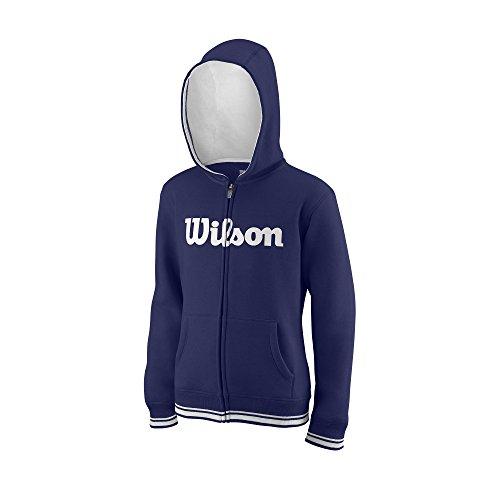 31bfea23dd Wilson Sudadera con capucha para niños, Y Team Script FZ Hoody,  Algodón/Poliéster