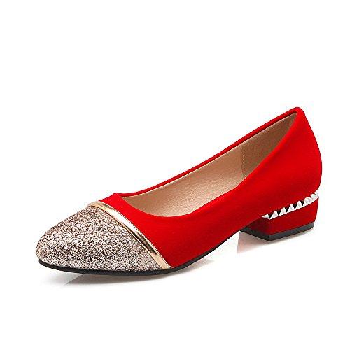 Dorati Tacco Flessibili Materiali Voguezone009 Donna Disegna Scarpe Misti Colori Basso Rotonda InnvEq