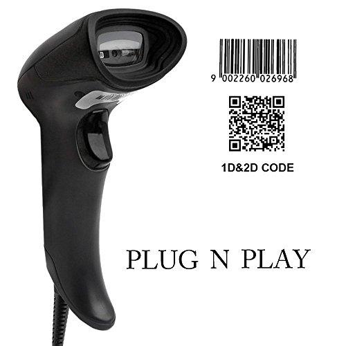 [Upgrade 2.0] 2D QR USB Barcodescanner MUNBYN Handscanner Barcode Scanner Play & Plug Handheld Lesegerät Kabelgebunden für Linux Mac und Windows PC (Qr-code Barcode-scanner)