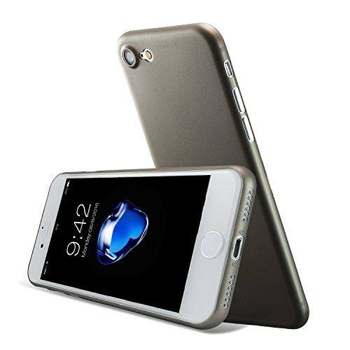 iPhone 8 Hülle und iPhone 7 Hülle( 4.7 inch),0.3mm Ultradünne Weltweit Dünnste Hart Schützen Abdeckung Sstoßstange Leichtes für iPhone 7(2016)&iPhone 8(2017) Diamantschwarz Grau 0.3mm