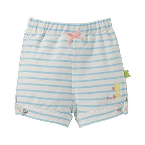 2ff2596707 Bornino CONFETTI ANIMALS Confetti Animals Shorts weiß blau gestreift/kurze  Hose - Baby Bekleidung für Jungen Mädchen weiß 74/