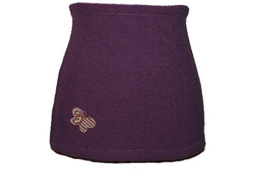 Nierenwärmer uni lila violett flieder Schmetterling Applikation Bauchwärmer Fleece Frottee Nierengurt Leibwärmer Männer Frau Kinder Sport Baby Größe Gr. S