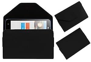 Acm Premium Pouch Case For Lenovo A526 Flip Flap Cover Holder Black
