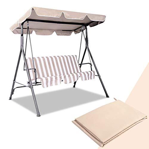 GYMAX. Ersatz-Überdachung - Top Hängemattenabdeckung mit wasserdichter Oberfläche für Garten Terrasse Outdoor Sessel Schaukelstuhl 132 x 191 cm