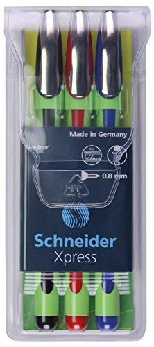 Buntstifte Geformte (Schneider Xpress Fineliner (0,8 mm) 3er Etui schwarz/rot/blau)