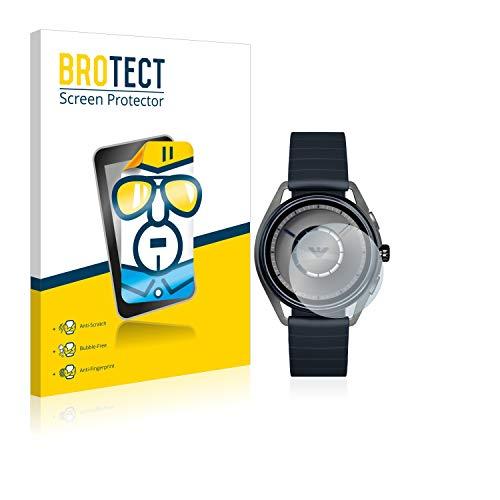 BROTECT Schutzfolie kompatibel mit Emporio Armani Connected Smartwatch ART5009 [2er Pack] klare Bildschirmschutz-Folie