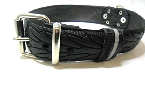 Handmade Hundehalsband aus Fahrradreifen (upcycling). Halsumfang von 48cm - 58cm. Robust ! - 2