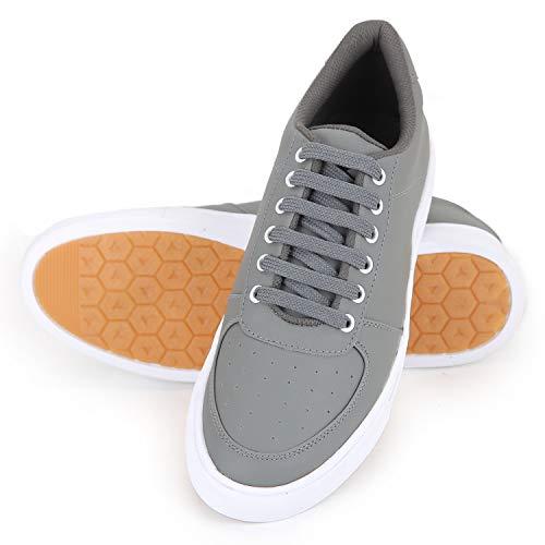 Boltt Men's Grey Synthetic Envy Smart Sneakers - 9