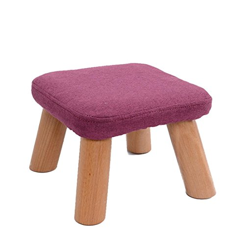 Kreatives Fischen Hocker Wechselnder Schuh Hocker Niedriger Hocker Massivholz Hocker Tuch Couchtisch Hocker Sofa Hocker Kinder Hocker , purple (Wicker Couchtisch)