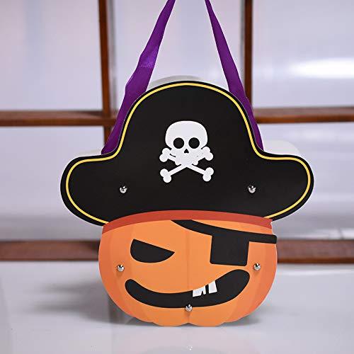 MAOYYM2 Halloween DIY Kinder Papiertüte Geschenkbeutel Süßigkeitstasche Kürbis Dekoration Kreative Hausgemachte Requisiten (Hausgemachte Kinder Halloween Dekoration)