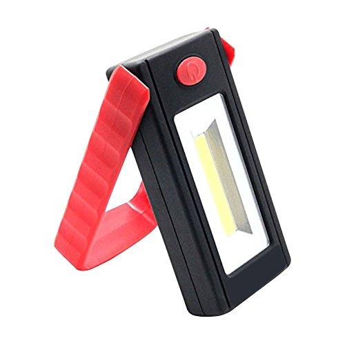 Forepin® Portatile LED Luci di Lavoro Batteria Torcia A LED Spotlight Lampada Proiettore Faro Faretto con Gancio magnetico e Supporto Stand per il Campeggio, Viaggi, Casa e Urgente Usa - Rosso