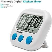 PYU   Timer da cucina con allarme forte e ampio display LCD  timer magnetico digitale da cucina con conto alla rovescia