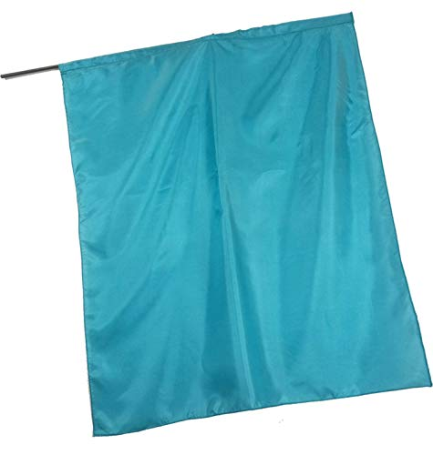 Solid Color Habotai Silk Flag TURQUOISE COLOR - M-size (45x36
