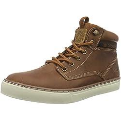 Dockers zapatillas deportivas altas de cuero hombre, color marrón, talla 41