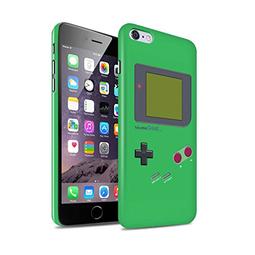Clipser Brillant Coque de Stuff4 / Coque pour Apple iPhone 5/5S / Blanc Design / Jeu Vidéo/Gameboy Collection Vert
