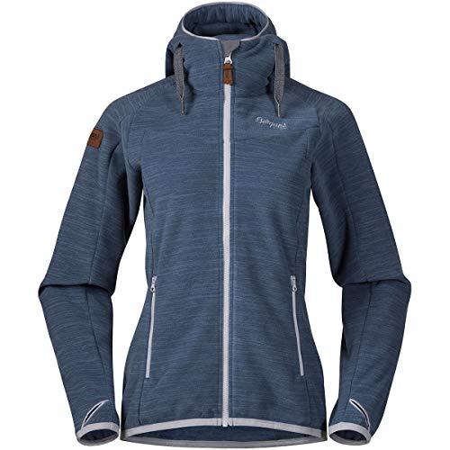 Bergans Hareid Fleece Jacket Women Größe XL fogblue Melange