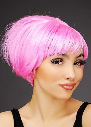 50er Jahre Pink Lady Style Rosa Bienenstock Perücke ()