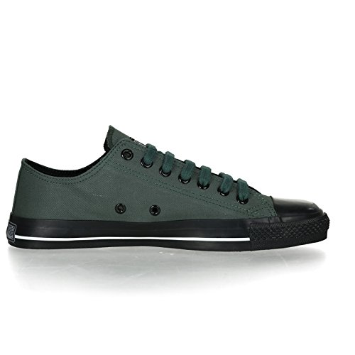 Ethletic Black Cap vegan LoCut Collection 17 - Farbe reseda green / jet black aus Bio-Baumwolle Größe 37 - 5