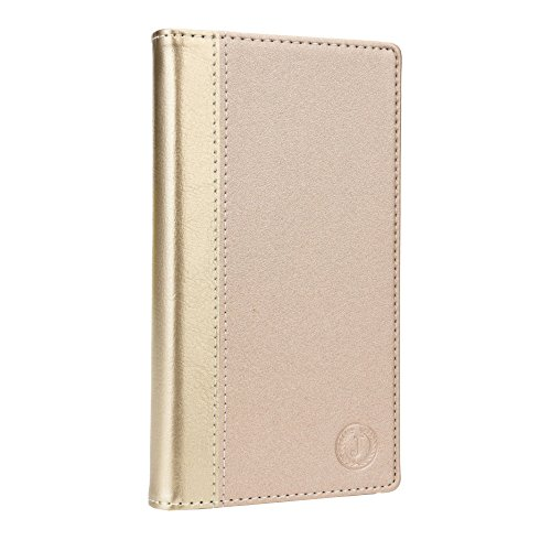J Millar Series Cover Leather Pouch Flip Case For Panasonic Eluga Note Golden Golden