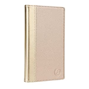 J Millar Series Cover Leather Pouch Flip Case For Allview P6 Lite Golden Golden