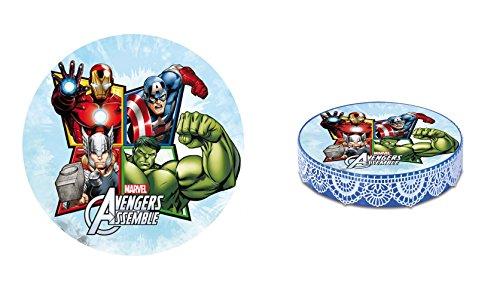 [PROMOTION] Disque Azyme Avengers - IRONMAN HULK CAPTAIN AMERICA THOR - Décoration Gâteau Enfant - 20 cm LIVRAISON GRATUITE