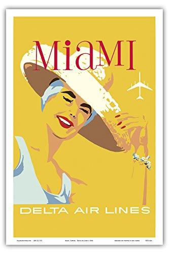 miami-florida-delta-air-lines-vintage-airline-travel-poster-c1960s-stampa-artistica-di-master-12-x-1
