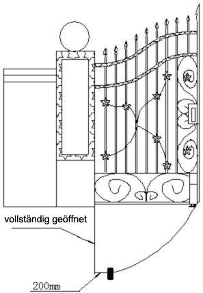 Automatisches Roller Toröffner Rolltor für 2-flüglige Tore