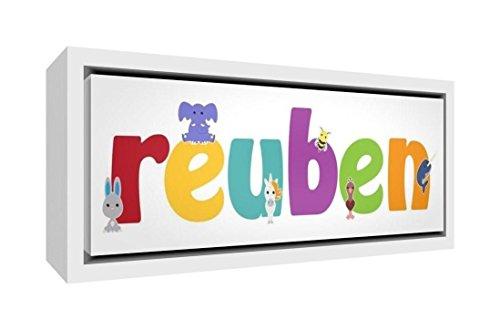 Little Helper Napperon avec Coaster Style Illustratif Coloré avec le Nom de Jeune Garçon Oscar