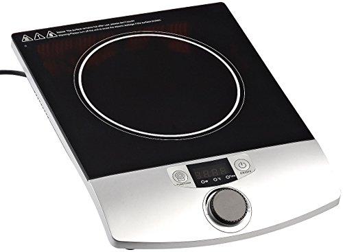 Rosenstein & Söhne Induktions-Kochplatte 12 bis 26 cm mit Drehregler, 2.000 W, bis 200 °C