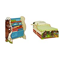 The Gruffalo Kids Sling Bookcase Bedroom Storage with Toddler Bed with Underbed Storage by HelloHome