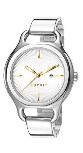 Esprit ES107932001 - Reloj de cuarzo para mujer, correa de acero inoxidable color plateado