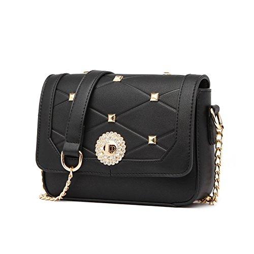 Syknb Einfach Alle Mit Einheitlichen Umhängetasche Frauen Tasche Messenger - Bag Black