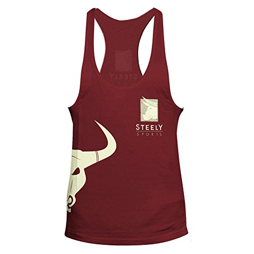 STEELY SPORTS Herren Tank-Top Classic Logo Stringer Dunkelrot x-Large/XL - Riesen Tank-top