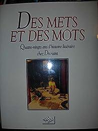 Des mets et des mots par Michel Caffier