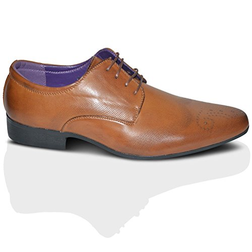 Robelli Men's Fashion Faux Leather Formal Shoes, 7 UK – Brown