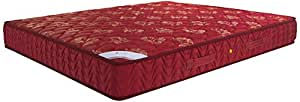 Amazon Brand - Solimo 6-inch Queen Spring Mattress (Maroon, 78x60x6 Inches)