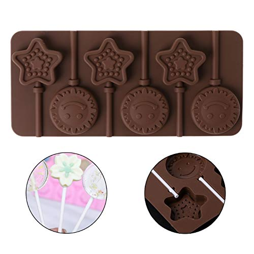 Cake Mold - Sun Star Shaped Silicone Lollipop Molds Chocolate Candy Baking - Graduation Large Star Stainless Military Figure Oven Ring Heart Panda Proof Aluminum Inch Plastic Letters Steel R Easter Bunny Cake Pan
