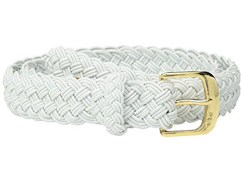 Lauren Ralph Lauren Damen Gürtel elastisch gewebt - Weiß - XL